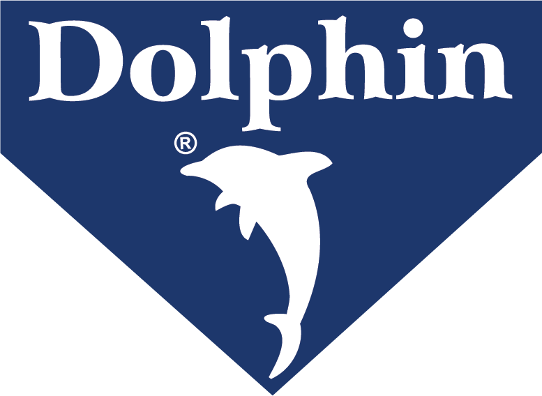 Dolphin brand Blue Logo - PNG